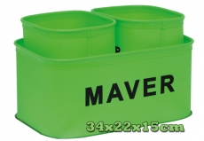 Preston Monster EVA Groundbait Bowls,Falteimer Set, 3 Stück