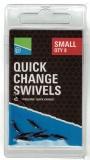 Preston Quick Snap Verbinder mit Mini-Wirbel - 8 Stück SMALL